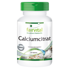 Calciumcitrat mit 300mg Calcium - 90 Tabletten