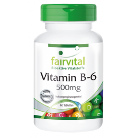 Vitamin B-6 500mg - 60 Tabletten