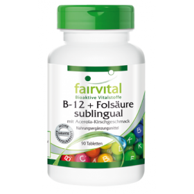 B-12 und Folsaure sublingual - 90 Tabletten